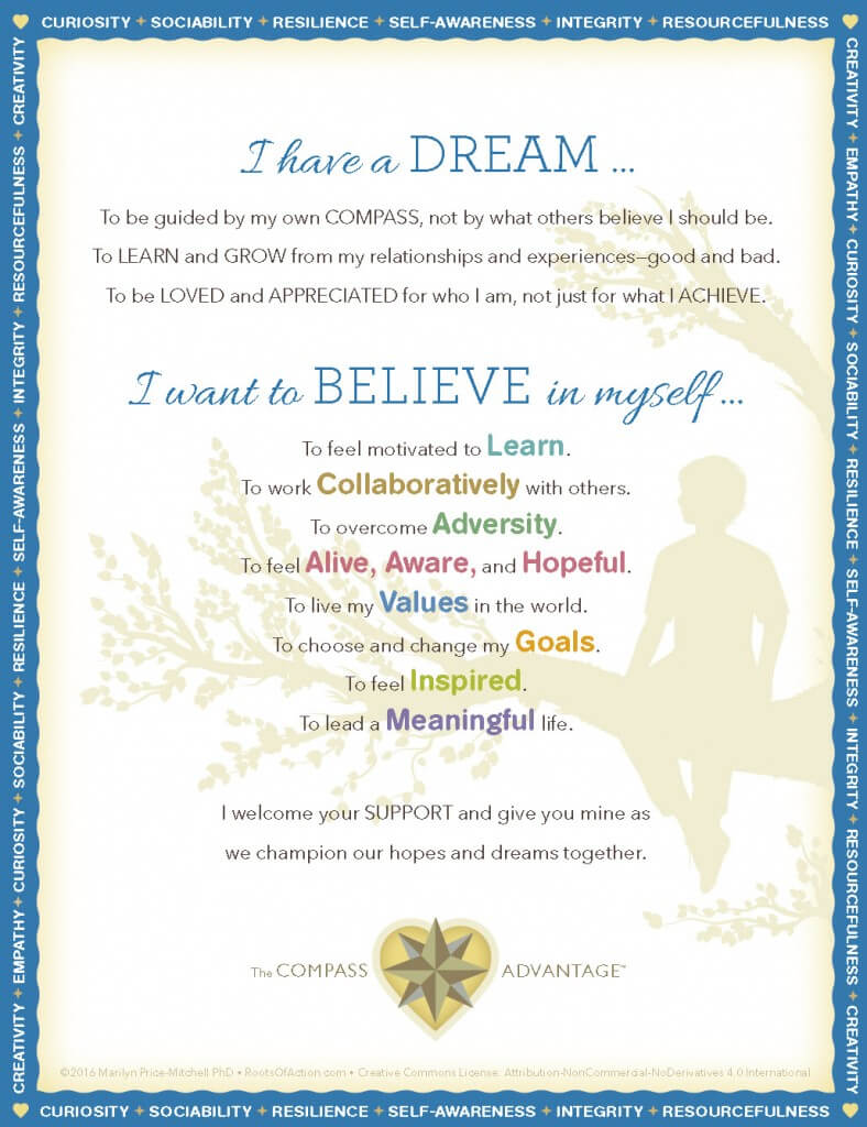 I Have a Dream- Believe in Yourself: A Manifesto for Youth, by Marilyn Price-Mitchell PhD
