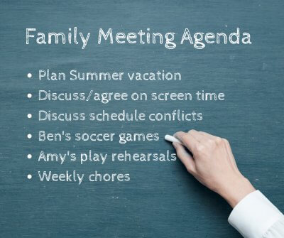 How to Develop a Family Meeting Agenda | Roots of Action